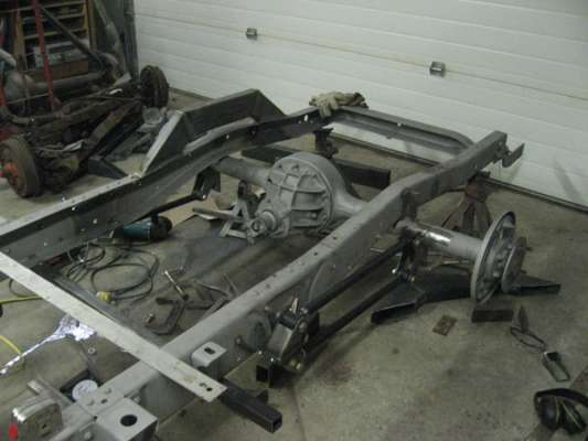 Once the suspension was mocked up, all parts welded into place, motor mounts